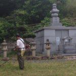 永代納骨堂とあじさい霊園の清掃をさせていただきました。