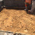 西条市、新規建墓の工事をしています。