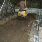 西予市宇和町、新規建墓工事をしています