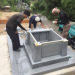 西条市小松町 新規建墓工事です。