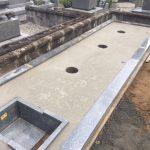 西条市 新規建墓工事をしています