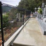 墓所のフェンス工事をしました